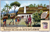 """Chocolate: The Drying Shed, Liebig trade card, early 20th century."""