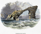 'Perforated Rocks', 1849.