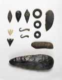 Flint knapping tools, 6800-3200 BC.