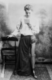 Woman wearing an artificial leg, 1890-1910.