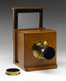 Dry collodion plate camera, c 1860.