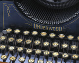 Detail of Underwood No 1 typewriter, 1897.