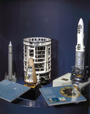 British rocket display, Space Gallery, Science Museum, London, 2000.
