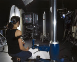 Photographing an object, Science Museum Photo Studio, July 2001.