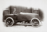 C S Rolls behind the wheel of his 100 hp Mors Racer, 1904.