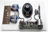 Components of a Pam 710 portable radio, 1956.