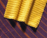 Sample of dyed Tencel on a sample of dyed 'A100', 1999.