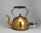 Electric copper kettle, with immersed element, c 1921.