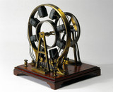 Wheatstone's eccentric ring type electromagnetic engine, 1841.
