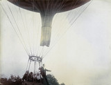 C S Rolls and others ascending in a balloon, 1902.