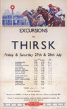 'Excursion to Thirsk', BR poster, 1950.