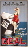 'Invest in a Holiday at Deal', SE&CR poster, c 1910s.