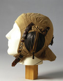 Fabric flying helmet, c WWII.