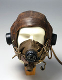 Leather flying helmet, c 1946.
