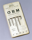 GEM calculator, 1890.
