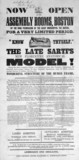 'The Late Sarti's New Florentine Anatomical Model', printed notice, 1854.