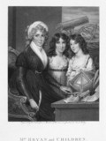 Mrs Margaret Bryan, astronomer & physicist, with her daughters, 1797.
