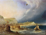 The first balloon crosing of the English Channel, 7 January 1785.