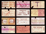 A selection of early railway tickets, c 1870-1920.