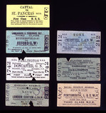Selection of Edmondson-type railway tickets, c 1905.