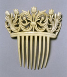 Imitation ivory hair comb, c 1862.