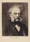 Werner von Siemens, German electrical engineer and inventor, c 1880.