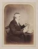 Reverend Joseph Bancroft Reade, English chemist and microscopist, c 1860s.
