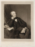 Rowland Hill, originator of the penny post, 1848.