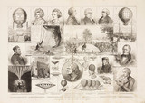 Illustrations of the centenary of ballooning, 1883.