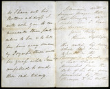 Letter from Florence Nightingale, May 1856.