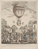 'A View of the Balloon of Mr Sadler's Ascending', 12 August 1811.