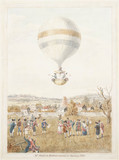 Sadler's balloon ascent from Hackney, 12 August 1811.