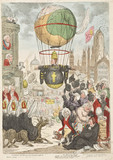 Satirical ballooning sketch, 1810.