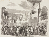 'Ascent of the Nasau Balloon from Vauxhall Gardens on Saturday', c 1840s.