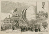 'Centenary Anniversary of the First Balloon Ascent in England', 1884.