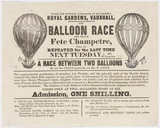 Handbill advertising a balloon race and Grand Fete Champetre, 9 August 1836.