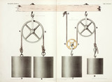 Fixed and moveable pulleys, 1842-1846.