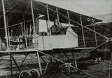 Forward elevator pusher biplane, c 1913.