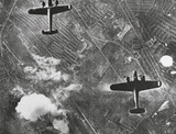 German Dornier 17 bombers in flight, 7 September 1940.
