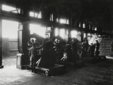 aero engines, mounted in test stands, being test run, c 1918.