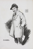 Cartoon of Shreck, by Dudley Hardy, 1909.