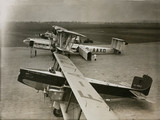 Three international airliners at Croydon Airport, 22 December 1933.