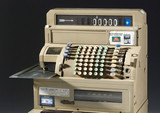 Electrical decimal cash register, c 1970.