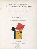 Title page to the 'Elements of Euclid', 1847.