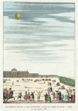 First hydrogen gas balloon launch, Paris, 27 August 1783.