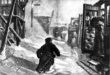 Train stuck in the snow, 1881.