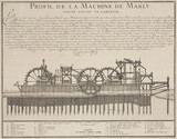 Profile of the Marly machine, French, late 17th century.