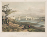 'The Britannia Tubular Bridge', Wales, c 1855.