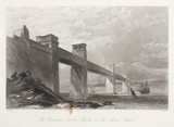'The Britannia Tubular Bridge over the Menai Straits', Wales, c 1855.