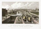 'Double Lock and East Entrance to the Islington Tunnel, Regent's Canal', 1827.